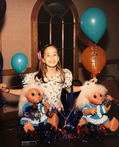 My theme for the party when I became a Bat Mitzvah was trolls. I was SO cool!
